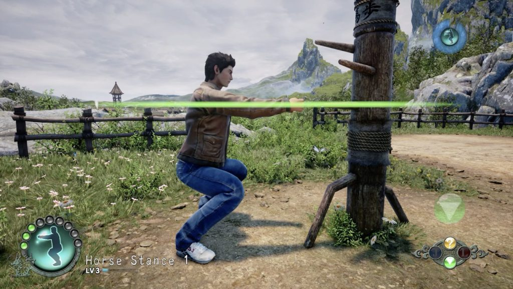 horse stance training martial hall at shenmue 3